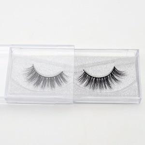 Image 3 - Visofree yanlış göz lashes el yapımı doğal sahte kirpikler makyaj glitter ambalaj 1 çift kutu makyaj seksi 3D vizon lashes D01