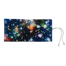 Ellenmar 36 Holes Pencil Case School Canvas Roll Pouch Makeup Starry Sky Brush Pen Storage Pencil Box School Accessories(China)
