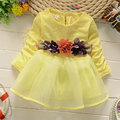 2016 spring autumn girls baby clothes brand floral dress for infant baby girl clothing tutu princess birthday part dresses dress