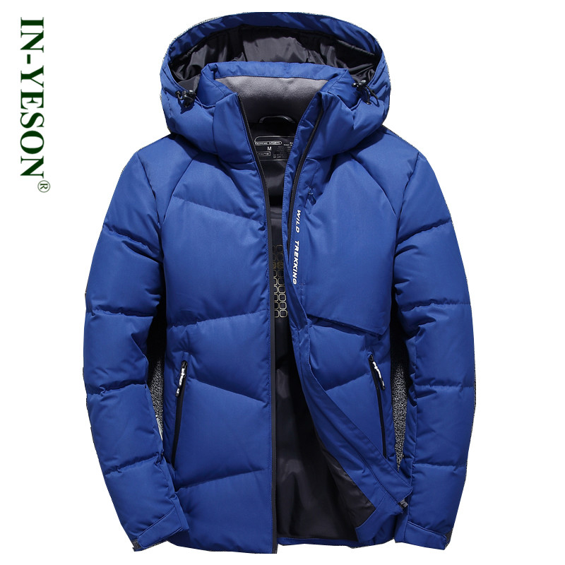 IN-YESON Brand Light Down Men Warm Thermal Windproof Fashion Casual Hooded Detachable Wi ...
