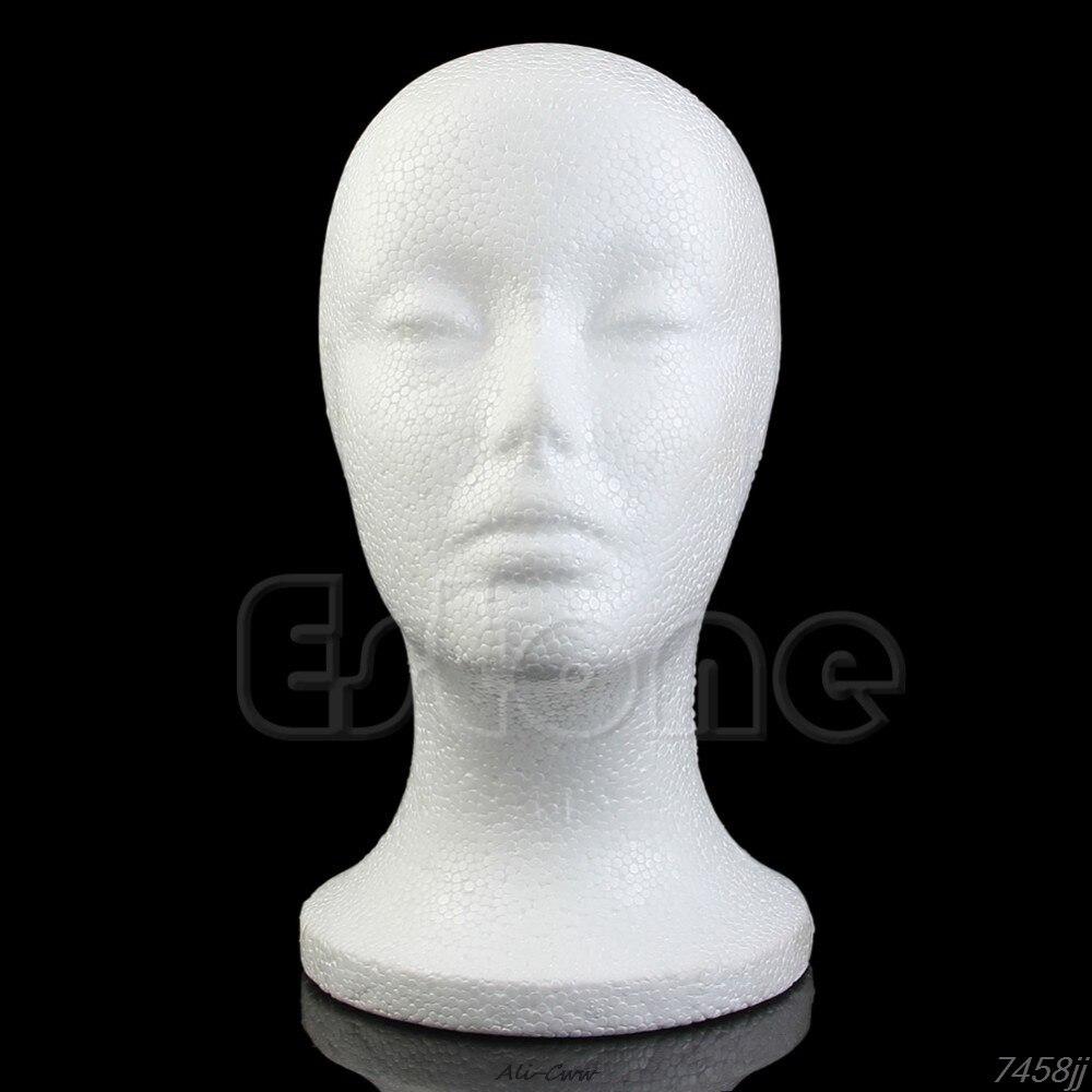 Hot Female Styrofoam Foam Mannequin Manikin Head Model For Wig hair Hat Glasses Display DropShip