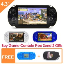 Free Shipping 8GB Handheld Game Console 4.3 inch Portable Video Game Console build in 1200+ game for arcade gba fc gbc smd sfc