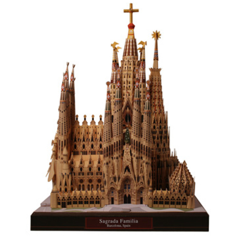 DIY Sagrada Familia, Spain Craft Paper Model Architecture 3D DIY Education Toys Handmade Adult Puzzle Game image