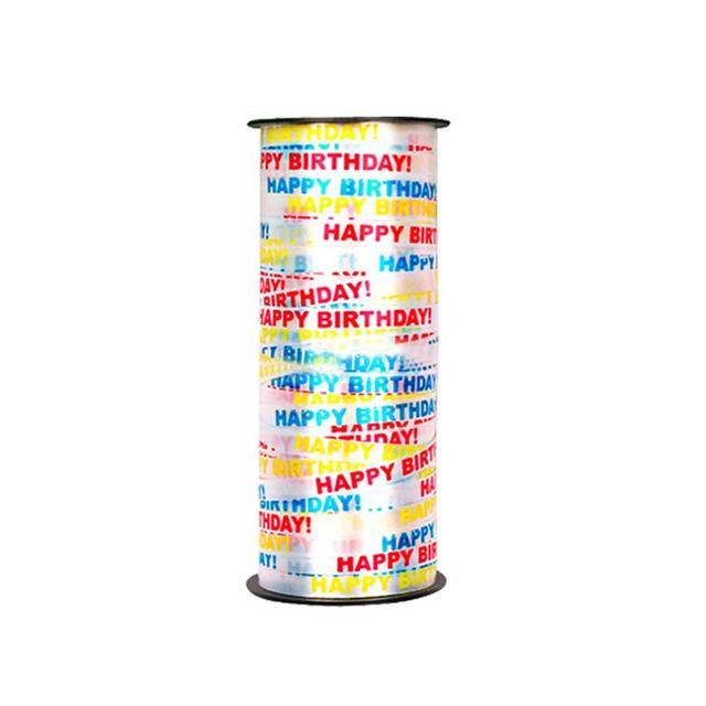 1 PCS 100 Yard Crimped Curling Ribbon Roll Silver Balloon Ribbons For Parties Festival Florist Crafts And Gift Wrapping