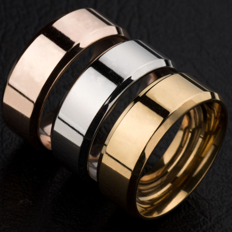 europe and the united states on the ring ring smooth men and women selling stainless steel - Where To Sell Wedding Ring