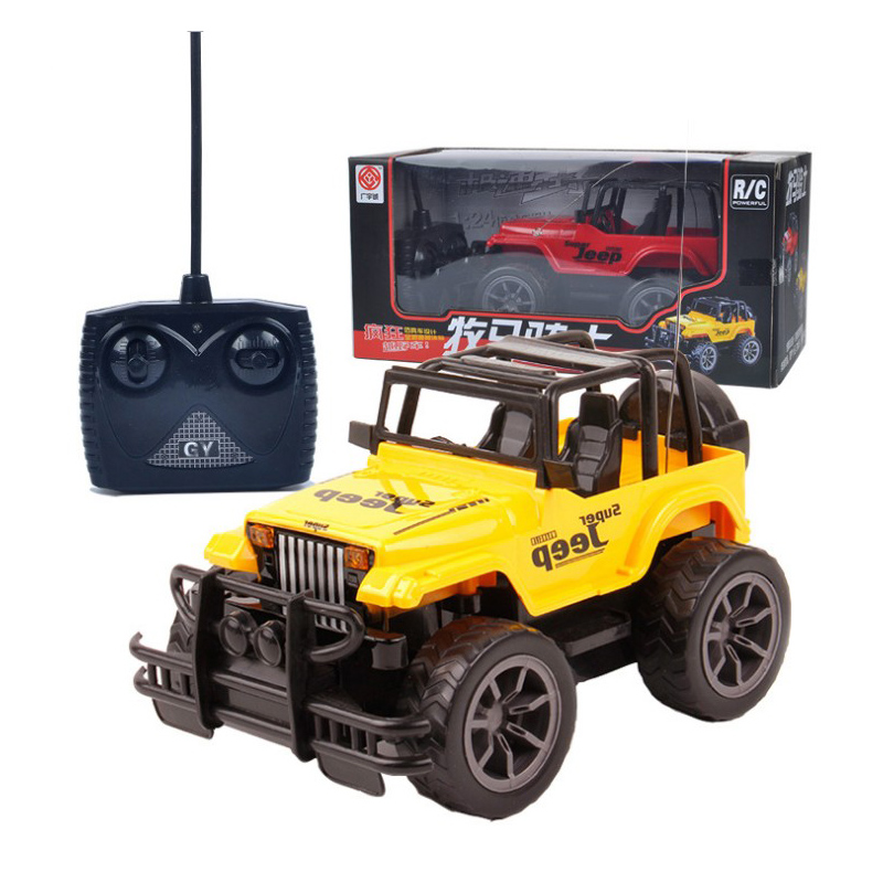 1:24 Radio Control Car Machines RC Cars Toys For Boys color red or yellow random Off-road vehicle +Headlight 4 channels RC Jeep