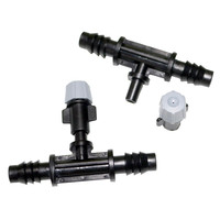 50pcs Reducing Tee Garden Water Hose Connector T Splitter Greenhouse Micro Irrigation Lawn Sprinkler Free Shipping