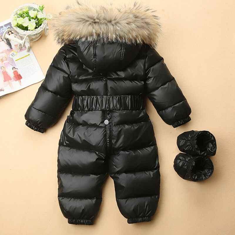 ... Зимние зимняя одежда для детей теплый комбинезон малышей пуховики для  маленьких мальчиков и девочек зимний комбинезон b9d23b688f8e0