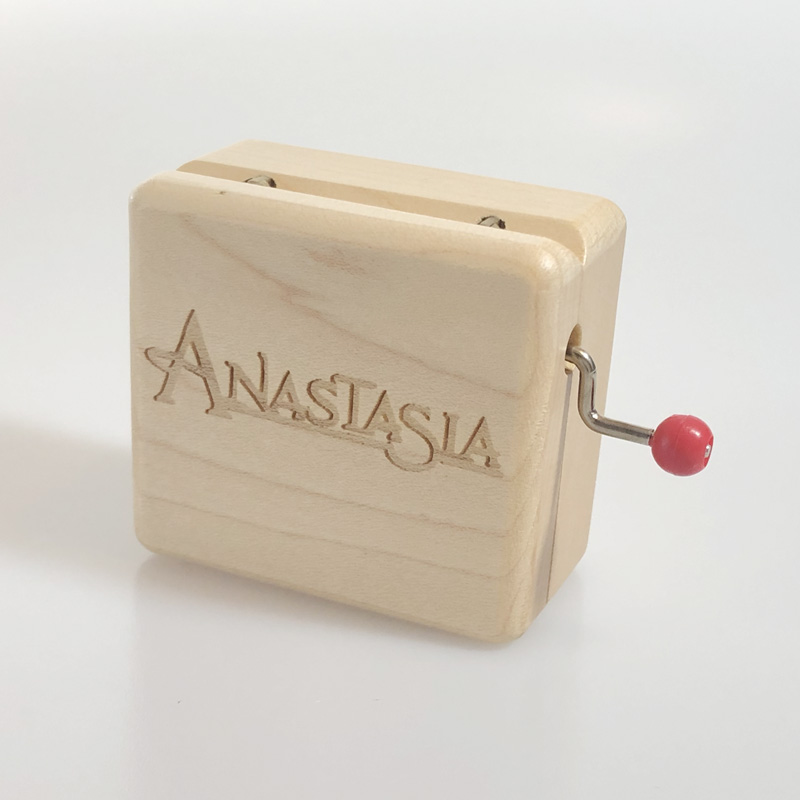Once Upon A December ♫ Rectangle Wood Carving Jewelry  Music Box ♫ Anastasia