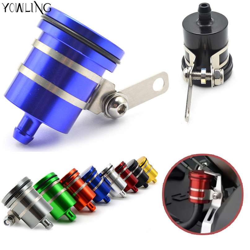 Universal Motorcycle Brake Fluid Reservoir Clutch Tank Oil Fluid Cup For KAWASAKI Z750 Z750R Z250 Z1000 NINJA 250/300 z800 mt09 motorcycle brake fluid reservoir clutch tank oil fluid cup for ktm 125 200 390 duke bmw s1000rr r1200gs kawasaki er6n ninja 300