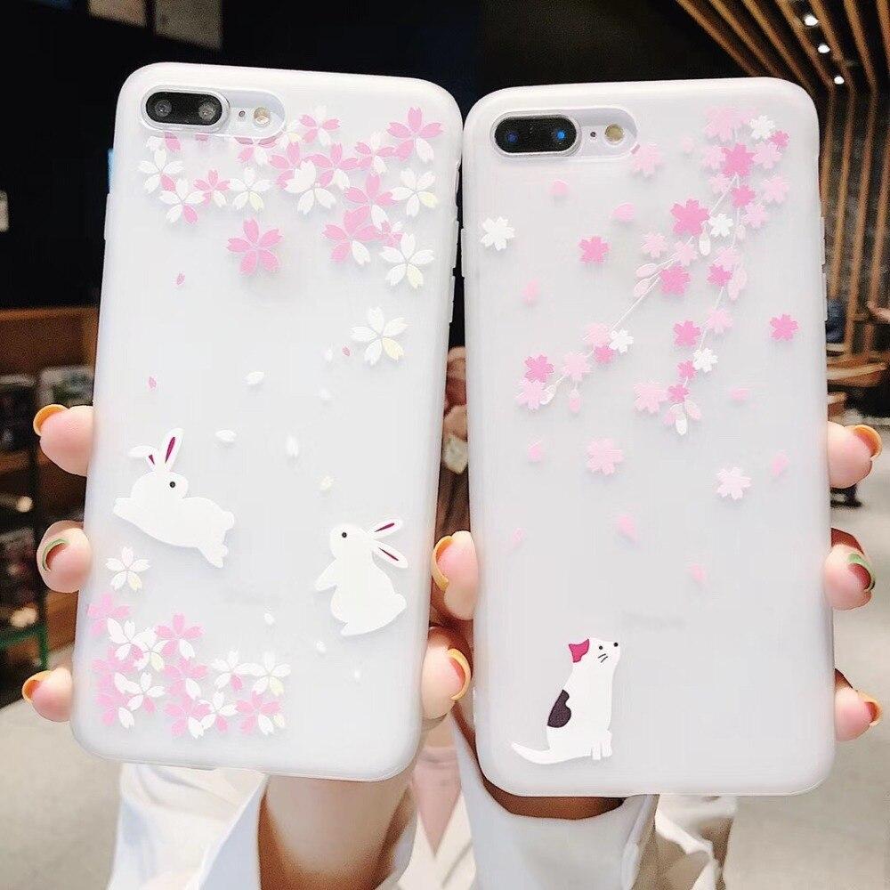 100pcs lot Cherry Blossoms Flower Soft TPU Case for huawei P Smart 2019 Honor 10Lite P30LITE