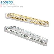 ECOBRT LIGHTING 14W 56cm bathroom lighting Transparent & Champagne 220V LED mirror wall light