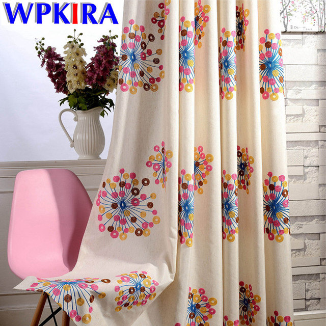 Fancy French Window Pastoral Floral Curtains Living Room Colorful  Embroidered Cloth Bedroom Modern White Sheer Striped
