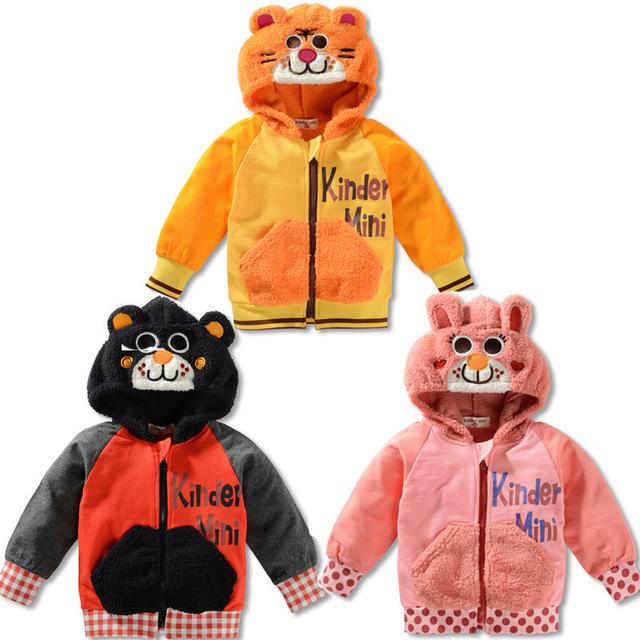 Hot New Crianças Roupas de Bebê Meninos Meninas Bonito do Urso Peludo Casaco Branco Casaco Camisola Grossa