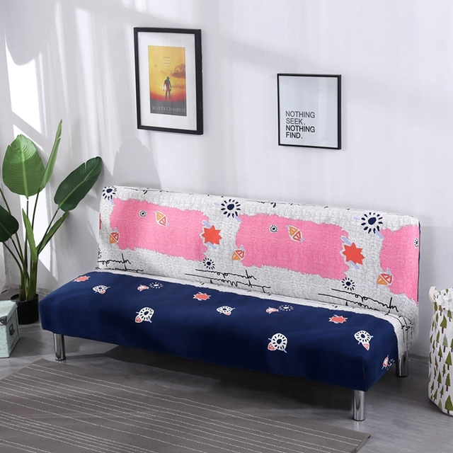 new cheap no handrail sofa bed covers blue and pink stretch rh aliexpress com