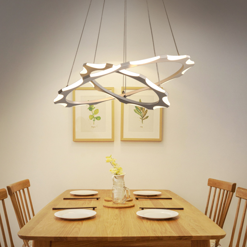2018 Circle Rings Modern LED Pendant Lights for Dining Living Kitchen Room Hanging Hanglampen Suspension Pendant Lamp Fixtures neo gleam minimalist modern led pendant lights for dining room kitchen room hanging hanglampen suspension pendant lamp fixture