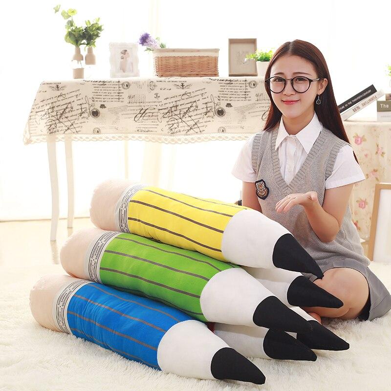 85 см творческий карандаш плюшевые Игрушечные лошадки Бесплатная доставка Красочный ручка ткань куклы дети Игрушечные лошадки Детские поду...