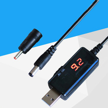 USB Boost Cable dc 5V Step Up to 9V 12V dc Voltage Converter Stepup power with LED Display for router