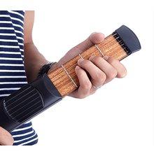 ADDFOO Portable Pocket Acoustic Guitar Practice Tool Gadget 6 String 4 Fret Model for Beginner
