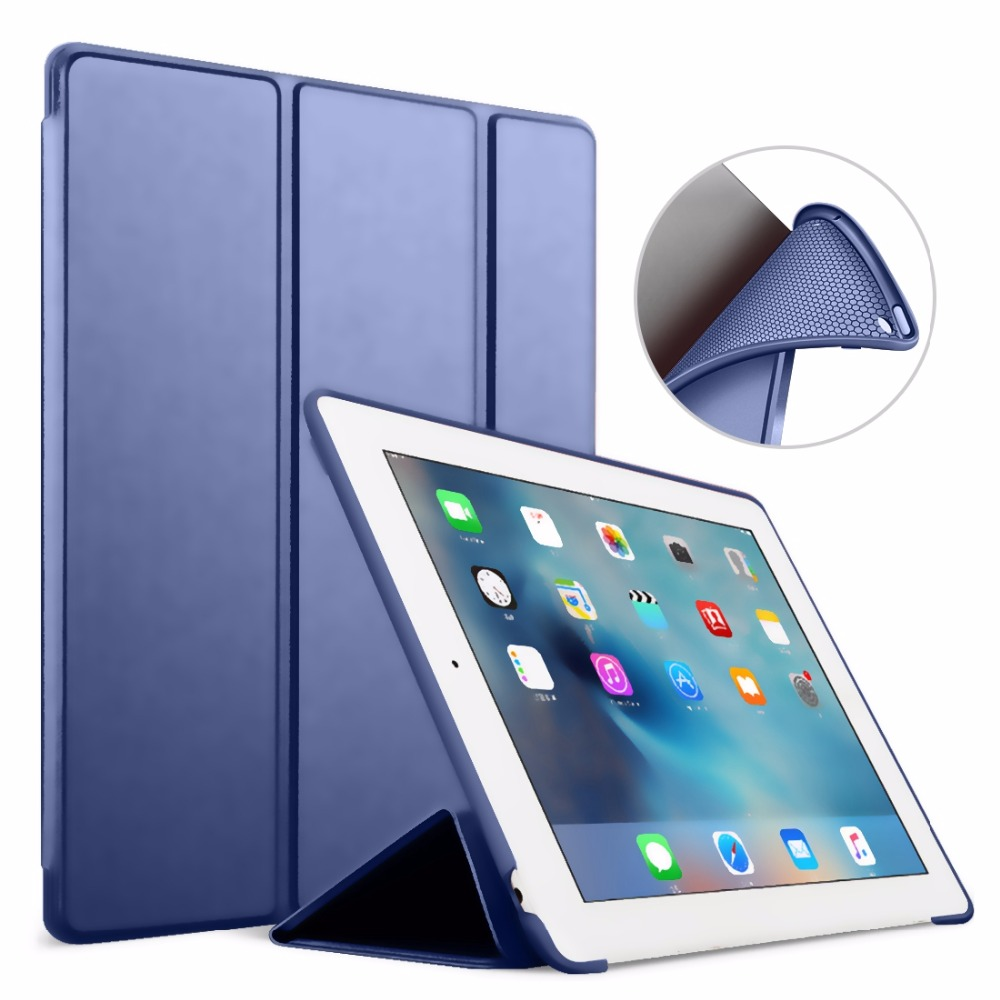 ZIMOON For iPad Air 1 2 Smart Case Silicone Back Soft Cover PU Leather Folio Stand With Auto Sleep/Wake Up Case For iPad 5/6 ctrinews flip case for ipad air 2 smart stand pu leather case for ipad air 2 tablet protective case wake up sleep cover coque
