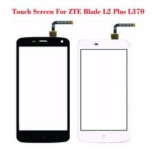 Черный Белый Сенсорный Экран Для ZTE Blade L2 plus L370 Объектив Датчик Стекло Оригинальная Передняя Сенсорная Панель Замена Мобильных Аксессуаров