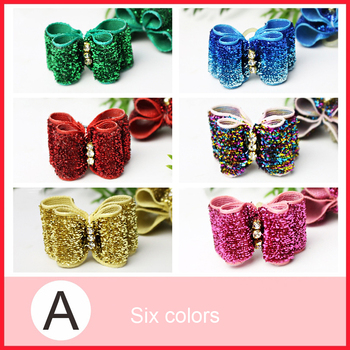 1 PCS Handmade Pet Puppy Dog Cat Hairpin Hair Bows Dog Hair Clips Pet Dog Grooming Accessories Random Color Pet Hair Accessories 1