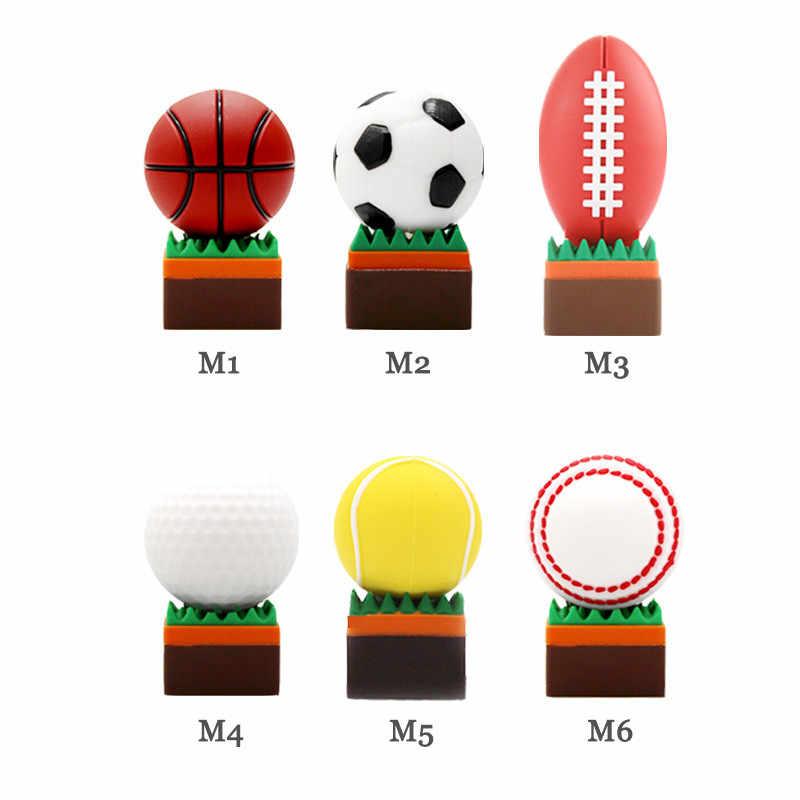 قلم كارتون محرك كرة السلة كرة القدم الرجبي جولف تنس محرك فلاش usb 64gb 32gb 16gb 8gb 4gb الرياضة الكرة الذاكرة عصا بندريف