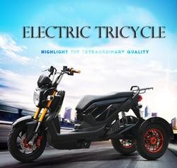 Электрический трехколесный скутер 1000 Вт 60 в с двойным дисковым тормозом, трехколесный велосипед, прочный, мощный, для езды на велосипеде, дл...