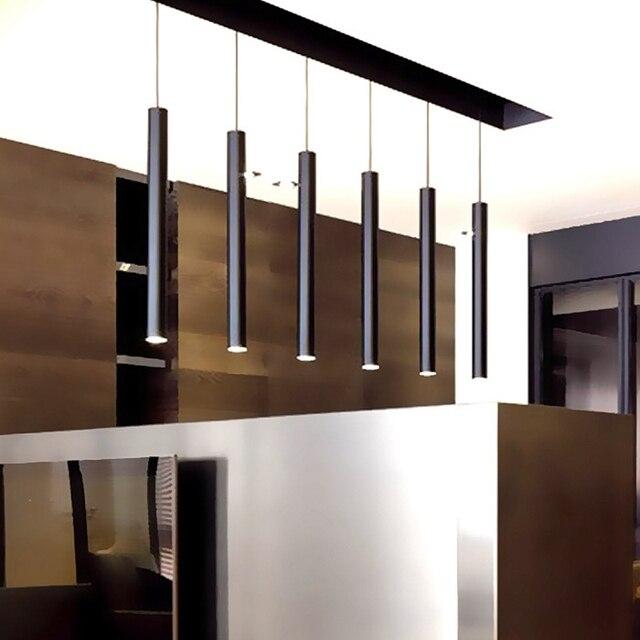 LukLoy Pendant Lights Kitchen L& Island Dining Living Room Decoration Tube Cylinder Pipe Pendant Bar Counter & LukLoy Pendant Lights Kitchen Lamp Island Dining Living Room ...