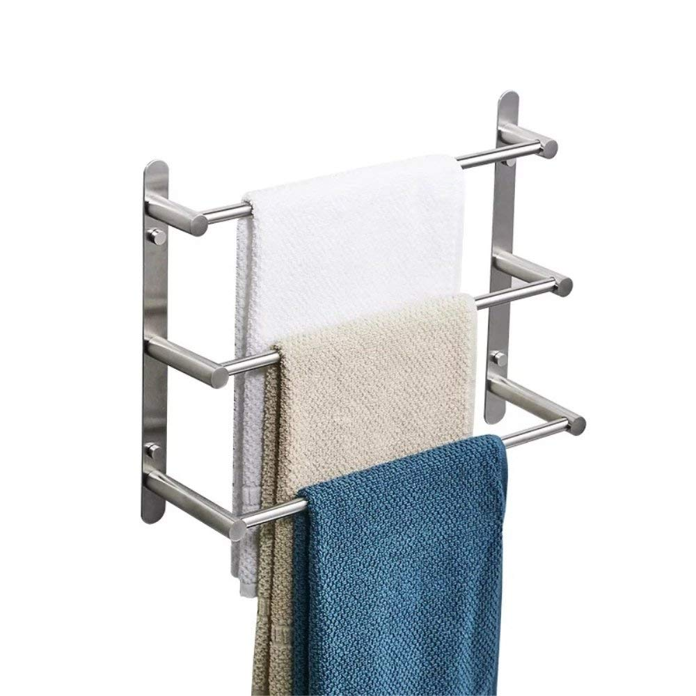 304 Stainless Steel Three Layer Towel Bar Brushed Nickel
