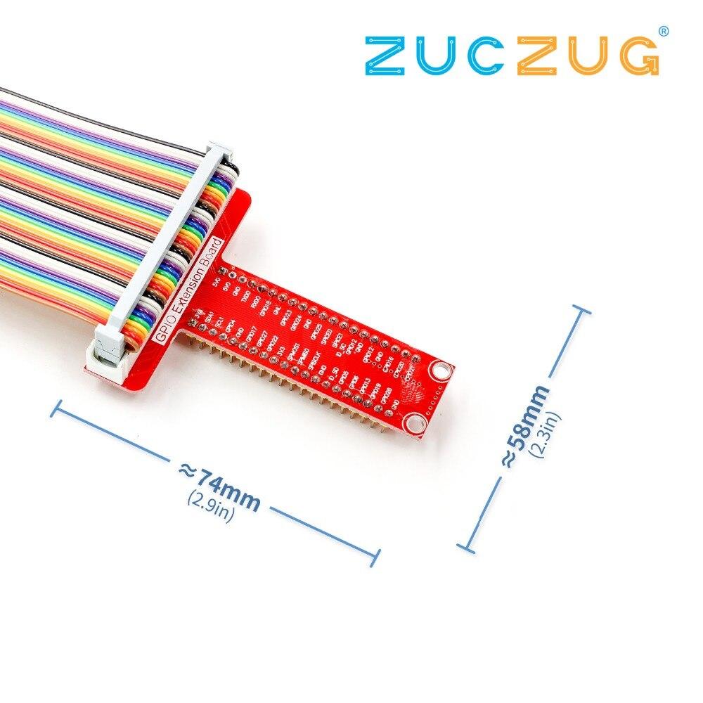 Т GPIO Плата расширения + 40 P кабель для Малины Pi совета