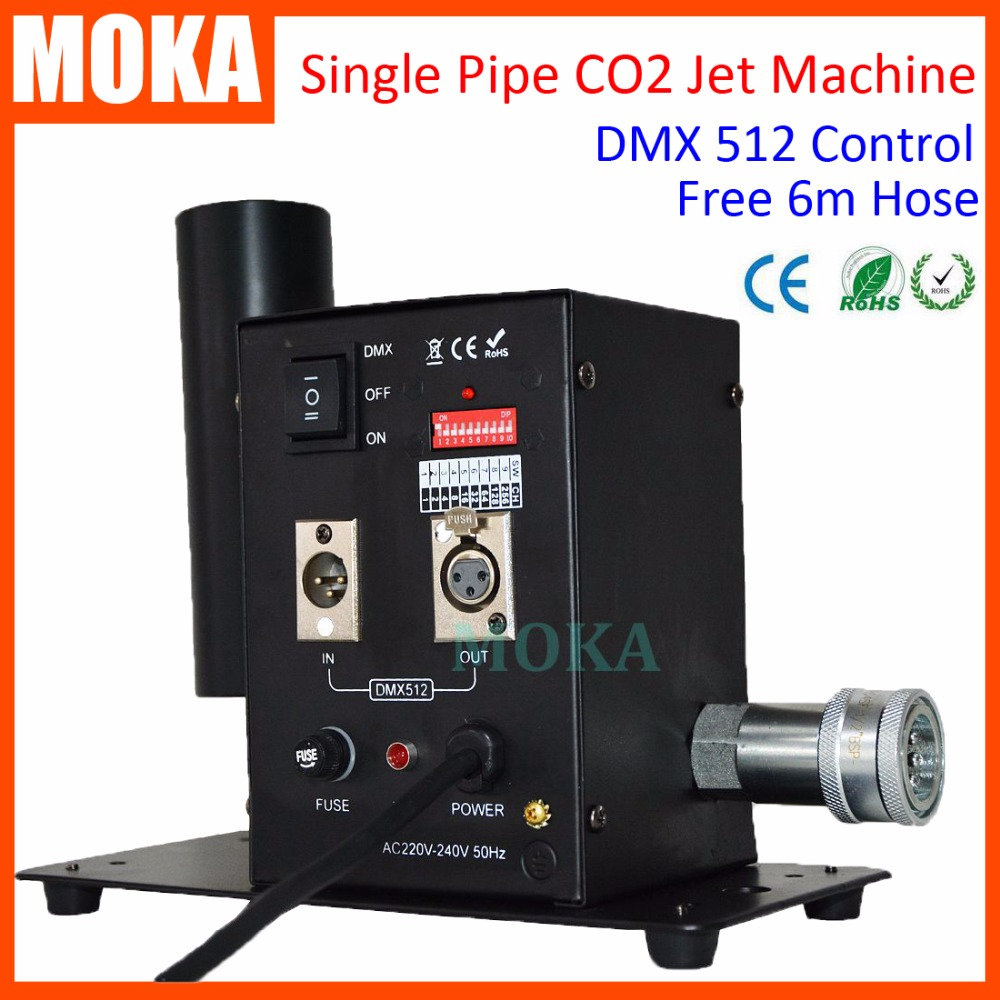 Best Sell dmx512 CO2 Jet Cannon machine Single Pipe Disco CO2 Blaster Jet Special Effects With 6m Hose