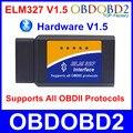Метизы V1.5 ELM327 Bluetooth OBD2 ELM 327 Поддержка Все OBDII Протоколы Автоматический Диагностический Инструмент Для Мультибрендовый Автомобили Сканер Штрих-Кода