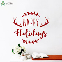 YOYOYU Wall Decal Happy Holidays Merry Christmas Stickers Art Mural Creative Design Home Decor Kids Bedroom Poster  CT799