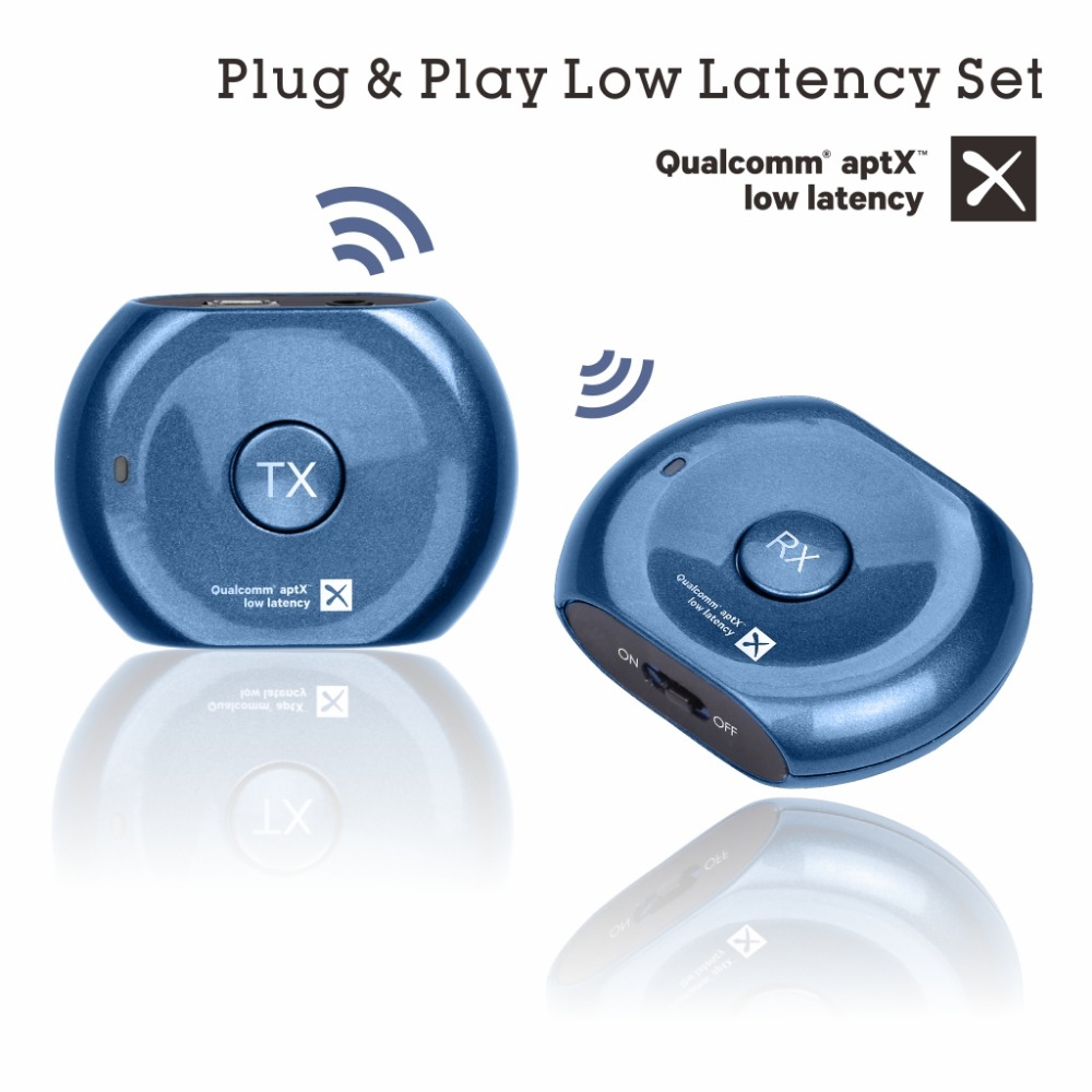 Avantree PLUG PLAY aptX Low Latency Bluetooth Transmitter and Receiver Set for TV Headphones 3 5mm
