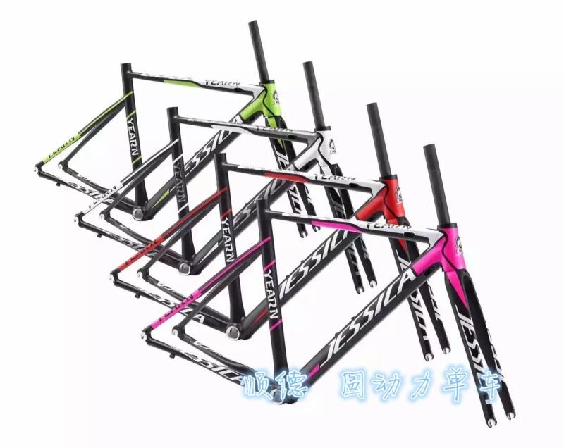 Free shipping JESSICA 48CM 50cm road bike frame bicycle carbon frok bike frame aluminum alloy frame+Frok  bike parts 1380g free shipping car refitting dvd frame dvd panel dash kit fascia radio frame audio frame for 2012 kia k3 2din chinese ca1016
