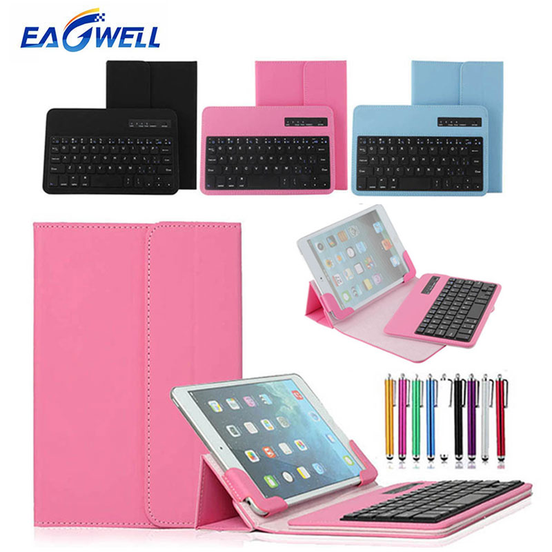 Universal Wireless Bluetooth Keyboard Leather Case Stand Cover For 7 8 inch Tablet PC for iPad mini for Samsung Galaxy Tab 7.0 pu leather case for ipad mini 1 2 3 7 8 inch universal tablet cover for ipad mini 4 sleeve for samsung tab 3 4 t110 t230 t350