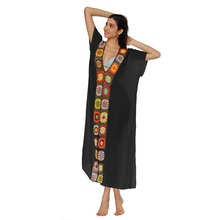 Cover Up May Female Beach Dress Saida Praia Summer Outings For Women 2019 Product Patchwork Split Sexy Overall More Color Cotton