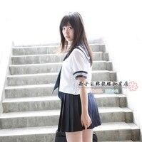 Nova chegada ternos de marinheiro serviço de classe meninas uniforme escolar japonês para meninas sexy