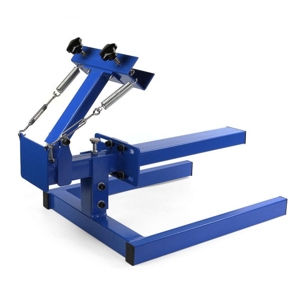 все цены на Happybuy Screen Printing Machine Press 1 Color 1 Station Silk Screen Printing Machine Adjustable Double Spring Devices 1 color онлайн
