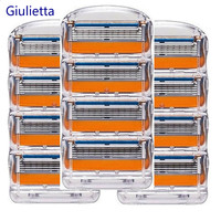 Giulietta Men Razor Blades High Quality Shaving Cassettes Facial Care Compatible With Gillettee Fusione Shaving Blades