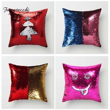 Fuwatacchi Double Colors Pillow Cover Magic Mermaid Sequins Cushion for Home Sofa Bed Chair Decor Pillowcases 2019