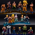6PCS/Lot Dragon Ball Z GT Gotenks Toys Anime Figurines Son Goku Jr. Son Gohan Neil Goten Vegeta Gine Trunks Piccolo Buu Figura