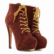 Neue mode frauen stiefel winter hohe heeles schuhe spitz parteihochzeit kurze stiefel mit plattformen größe 35-42