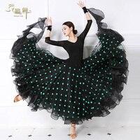 Customized Dancing Dress Lady National Dance Suit Waltz Dance Performance Dresses Waltz Tango Fox Trot Wear Long Sleeve D 0355
