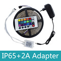 Waterproof RGB LED Strip Light 3528 SMD 300 LEDs Flexible Strip Light with 24Keys Remote Controller+DC 12V Adapter Power Supply