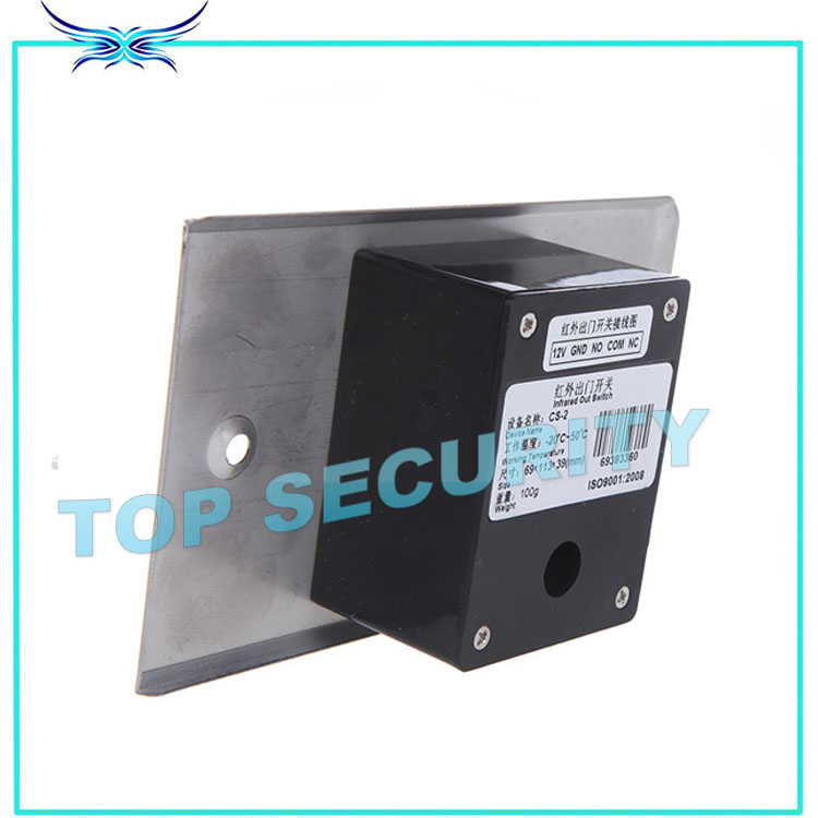 Free shipping 10pcs a lot infrared exit button exit switch no touch release exit button for access control system with LED light new arrival metal exit button exit switch with mushroom switch free shipping good quality security access control no exit button