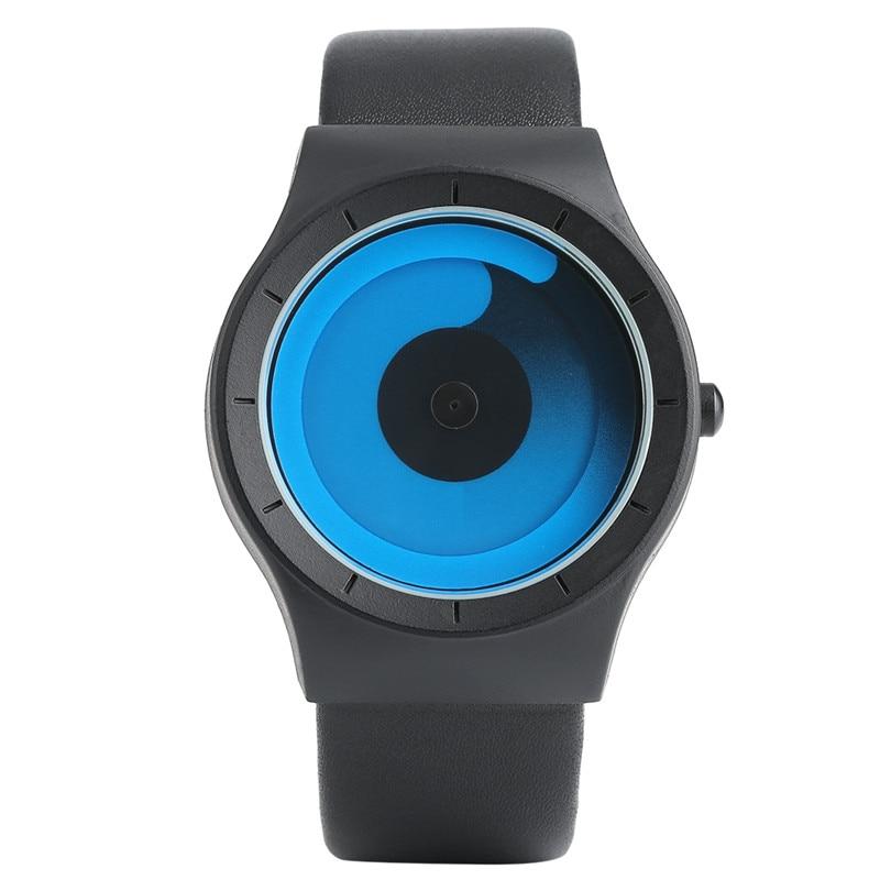 Technology Men Women Wristwatch Cool Multicolor Swirl Turntable Concise Trendy Quartz Watch Hot Unisex Sport Clock Geek Design