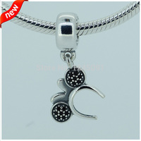 Minnie Headband Silver Dangle Charms DIY Fit For Pandora Bracelet 100 925 Sterling Silver Beads Fashion