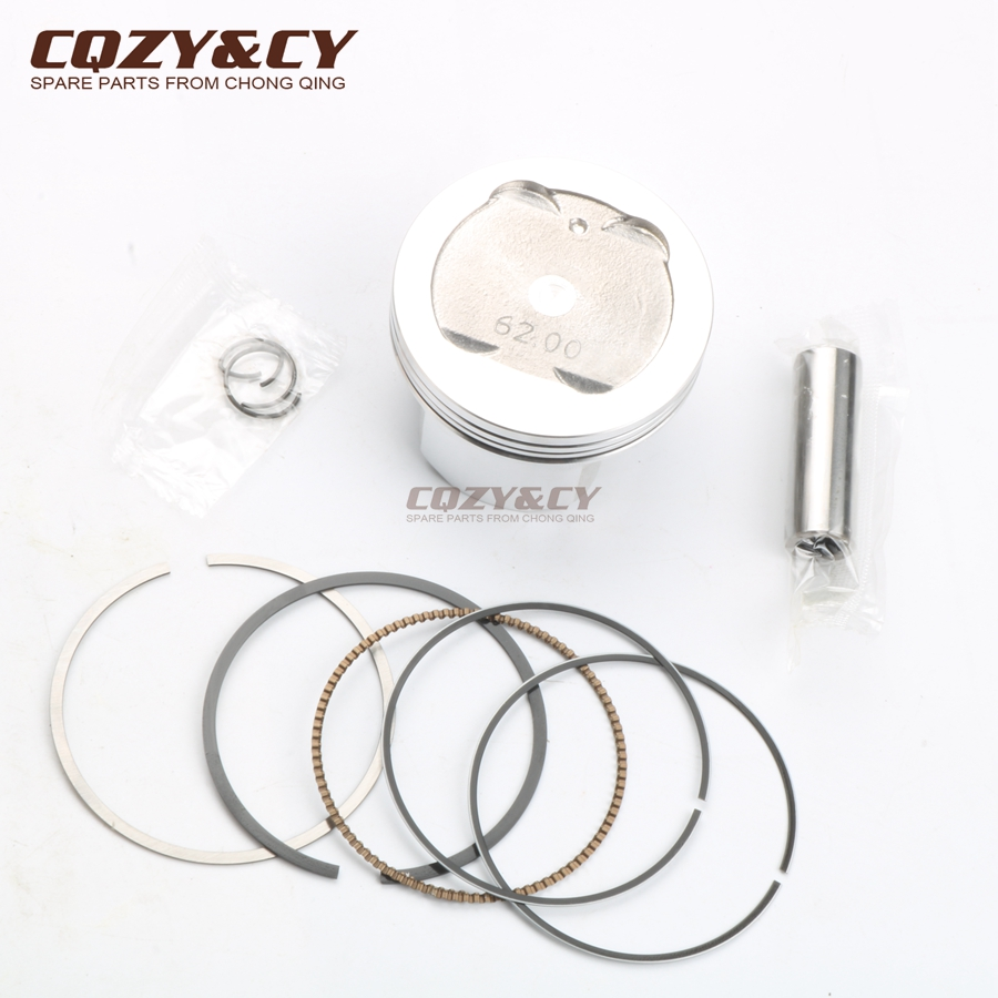 High Quality <font><b>Piston</b></font> Kit for YAMAHA 135 LC Jupiter MX Spark RX135 Crypton X 135 Sniper MX135 Exciter <font><b>Piston</b></font> Pin 14mm/<font><b>62mm</b></font> image